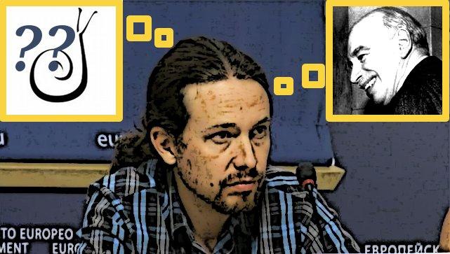"""Pablo Iglesias y Podemos: ¿Neokeynesianismo o Decrecimiento? (Símbolo del Decrecimiento tomado del documental """"Decrecimiento"""")"""